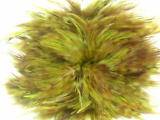 """50 YELLOW ROOSTER SADDLE CRAFT / HAIR FEATHER 3""""-4""""L"""