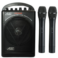 AWP604BHH Dual Wireless Microphone Battery Powered Portable PA System 2 Handheld