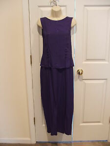 New frederick's of hollywood purple formal occasion long dress made in USA 7/8