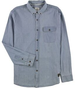 Rip Curl Mens Barney Button Up Shirt, Blue, XX-Large