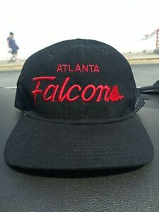 Vintage 90s Atlanta Falcons Sports Specialties Script Fitted Hat 7 3/4