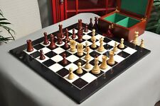 The Zagreb '59 Chess Set, Box and Board Combination - Mahogany Gilded