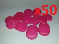 50 Raspberry Home Brew Bottle Crown Caps 26mm Very Good Seal Quality FAST P&P