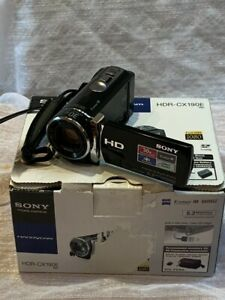 Sony HDR-CX190E Camcorder HD Handycam~Black + Mains & USB Lead Boxed Working