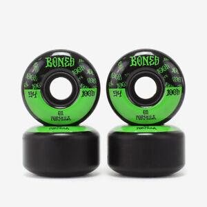 Bones Wheels 100's V4 Wide OG #13 100A Skateboard Rollen - 54 mm - black / green