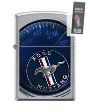 Zippo 8470 Ford Mustang Street Chrome Finish Lighter + FLINT PACK