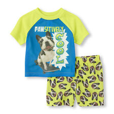 The Children's Place 'Pawsitively Cool' Top And Shorts PJ Set Size 4T