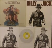 BILLY JACK + TRIAL OF BILLY JACK Soundtrack LP Poster,Booklet,45rpm RARE BUNDLE