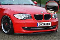 Frontspoiler BMW 1er E81 E87 Facelift Spoilerschwert ABS ABE schwarz glänzend