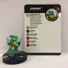 #001 Leonardo Nm W/ Card Tmnt Unplugged - Turtles Heroclix