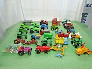 1/64 VINTAGE TRACTORS  farm farming AS SEEN matchbox diecast bundle JOB LOT