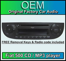 Fiat 500 cd lecteur MP3, Fiat 500 voiture stéréo couleur noire avec radio code & keys