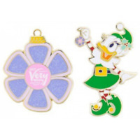 Disney Pin 125403 MVMCP 2017 Daisy Duck Ornament Set Merry Christmas Party LE