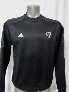Adidas Texas A&M Long Sleeve Climawarm Black Sweatshirt Size S