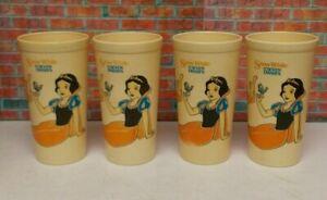 Set of 4 Vintage Disney's Snow White & the Seven Dwarfs Drinking Cups
