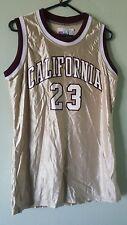 Nwt Speedline Women'S Large Basketball Jersey California #23 Gold Maroon