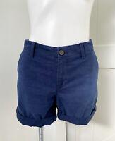 Gap Women's Navy Blue Flat Front Chino Rolled Cuff Shorts Women's Size 8