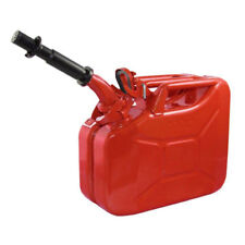 Wavian 3013 2.6 Gallon 9.8 Liter Steel Gasoline Fuel Jerry Can with Spout, Red