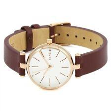 Skagen Womens Signatur Brown Leather Strap White Dial SKW2641 Ladies Watch