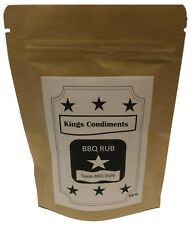 Texas Dry Rub Seasoning ~ BBQ Central Texas Barbecued Rubs 50g Pack