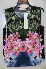 15da4333 Stella McCartney Tropical Flora Sleeveless Blouse Size 40