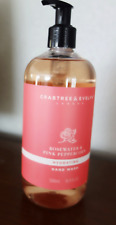 CRABTREE & EVELYN Rosewater PINK PEPPERCORN HAND WASH 16.9 fl oz  BIG BOTTLE New