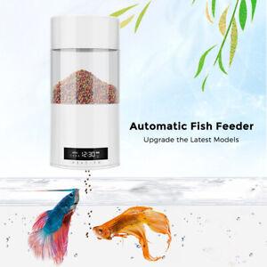 USB LCD Automatic Fish Feeder Timer Aquarium Fish Tank Food Dispenser 500ml AU