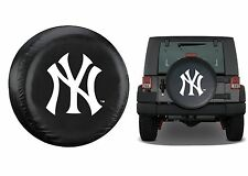 "Universal Black New York Yankees Spare Tire Cover Fits Up To 32"" New Free Ship"
