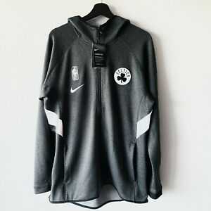NWT Nike Boston Celtics Therma Flex NBA Hoodie Jacket Heather Black/Gray White L