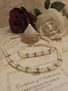 Freshwater Pearl Set Double Strand Pearl Necklace Women Sterling Silver Only One