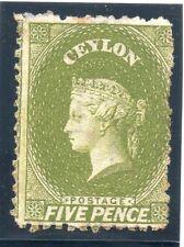 Victorian (1840-1901) Postage Ceylon Stamps