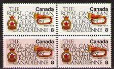Canada 1975 Sc680$ 1.0 Mi616 1.6 MiEu 1 block mnh  Royal Canadian Legion,Anniv.
