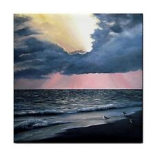 Large Ceramic Tile 6x6 Sea View 246 ocean beach art painting L.Dumas