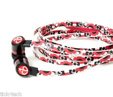 "NEW ChicBuds ARTS with Mic ""FLORA"" Fashion Patterned Earphone Earbuds Headphones"