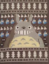 Totoro Christmas T Shirt Mens Large Charcoal Grey