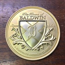 House of Baldwin Since 1862 Round Piano Metal Plate/Cabinet Medallion/Decal Gold