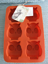 NEW ADORABLE RUSTIC OWL THEME SILICONE MOLD--BAKING, BROWNIES, CUPCAKES, SOAP