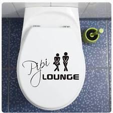Pipi Lounge Aufkleber für WC Deckel Toilette Bad Klo Türaufkleber Sticker TDA030