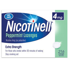 Nicotinell 4mg Nicotine Peppermint Lozenges 216 Extra Strength Quit Smoking Aid
