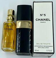Chanel NO 5 EAU DE TOILETTE Spray 50 ml 1.7 FL OZ VINTAGE