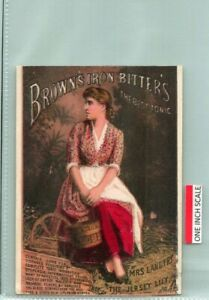 C53-4039, BROWN'S IRON BITTERS, 1880-90S VICTORIA TRADE CARD.