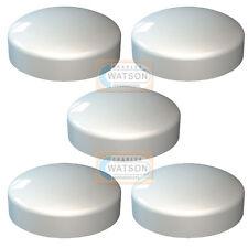 Pack de 5 - Blanco Plástico DOMO 2 Unidades Plástico Cúpula Tapón De Rosca