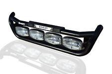 To Fit DAF XF 95 Black Steel Grill Light Bar C + Step Pad + Amber Side LEDs x2