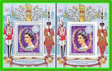 COMORO IS. 1978 Queen Elizabeth II - 25th Anniversary  x2 S/S MNH ** SCARCE **