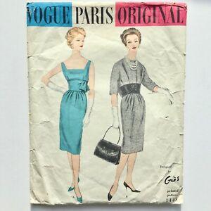 GRES Alix PARIS 50s vintage couture Vogue Original fashion sewing pattern B32ins