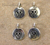 8212 Fine Silver Plated TierraCast Six Shooter Gun Charms 4 Pieces