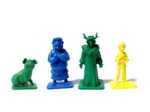 4 DISNEY Black Cauldron 1985 Kellogg's figures Dalben Hen Wen Taran Horned King