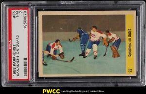 1958 Parkhurst Canadiens on Guard #35 PSA 7 NRMT
