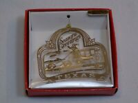 Texas Christmas Ornament Holiday Seasons Greetings Cowboys Stagecoach Horses NEW