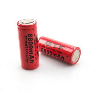 Batteria battery  ricaricabile GTF 26650 8800mAh 3.7V li.ion litio 1 pezzo